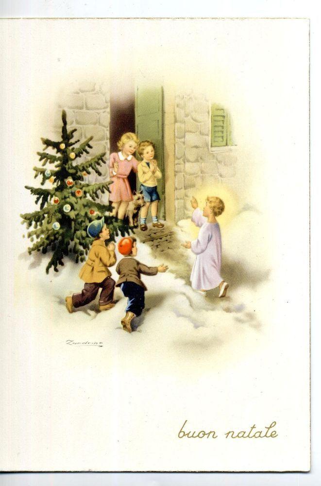 ADELINA ZANDRINO Bambini & Angeli Kids & Angels Vintage PC Circa 1950