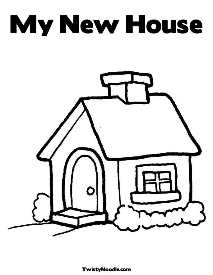 My New Home Coloring Pages For Kids My New House Coloring Page