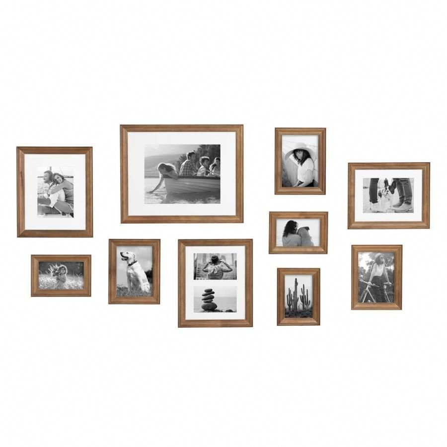 Kate And Laurel Bordeaux Natural Picture Frame Common 4 In X 6 In 11 In X 14 In In Brown 216840 In 2020 Picture On Wood Picture Frame Sets Natural Picture Frames