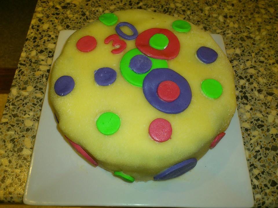 Annettes 30 års fødselsdagskage