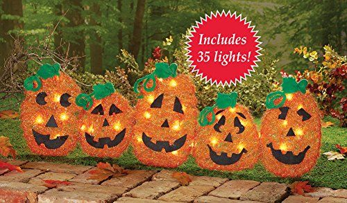Lighted Halloween Pumpkin Pathway Fence halloween Pinterest