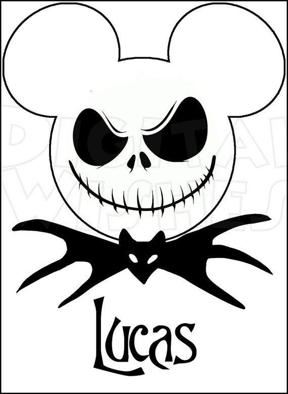 Jack Skellington Mickey Mouse Head Ears Digital Iron On Etsy Disney Halloween Mickey Halloween Nightmare Before Christmas
