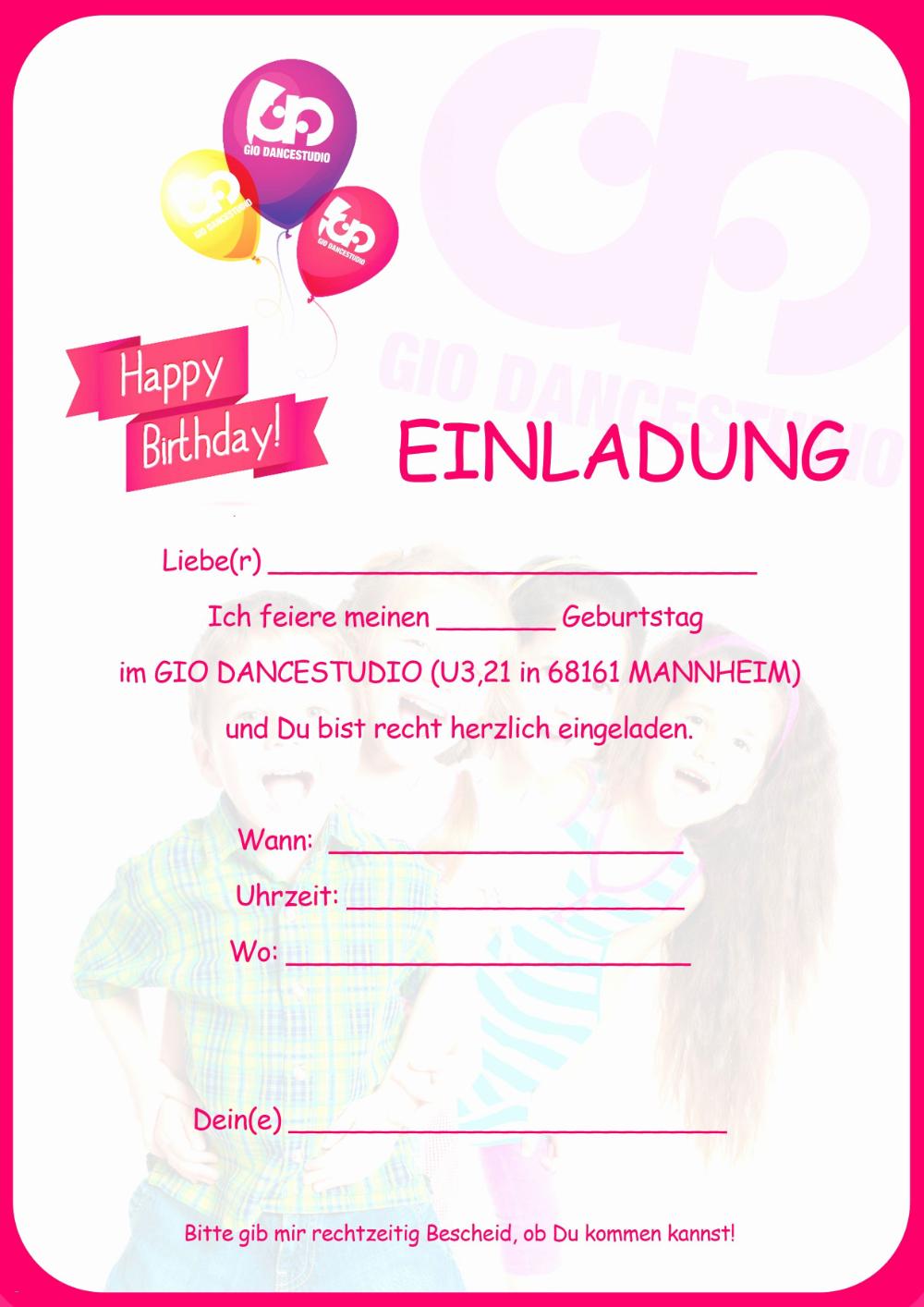 Einladungskarten Kindergeburtstag Zum Ausdrucken 14