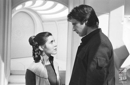 Star Wars - sometimes even scruffy nerf herder gets the girl.