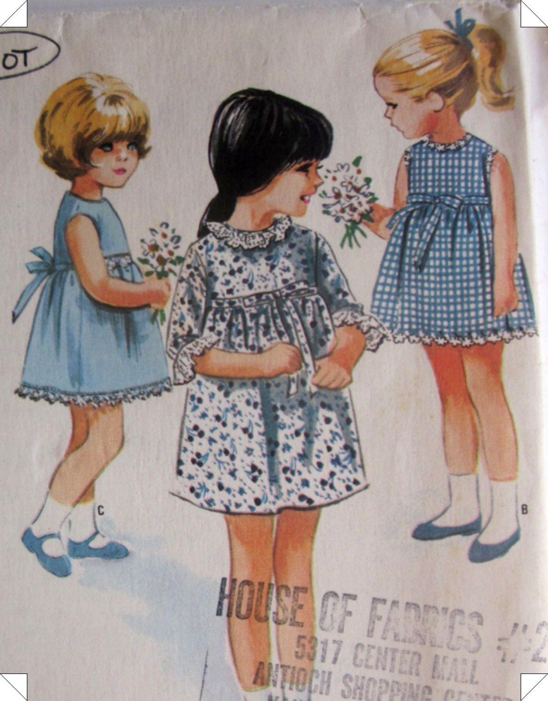 Vintage 1960s McCalls 8195 Helen Lee Girls Dress Pattern. $8.99, via ...