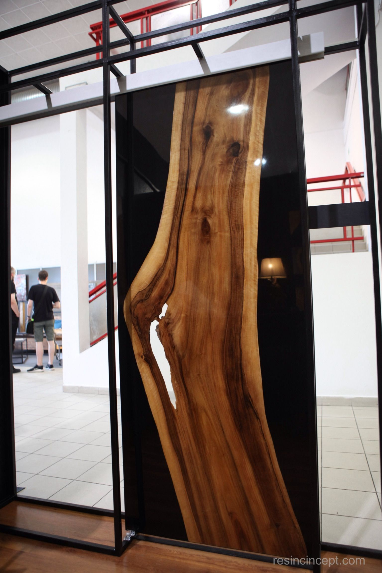 Epoxy Resin Walnut Sliding Doors Resin Concept Wood Epoxy