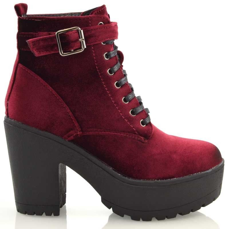 ac40faa0e56 Ladies Chunky Cleated Platform Sole Womens Retro Goth Combat Lace Up Ankle  Boots
