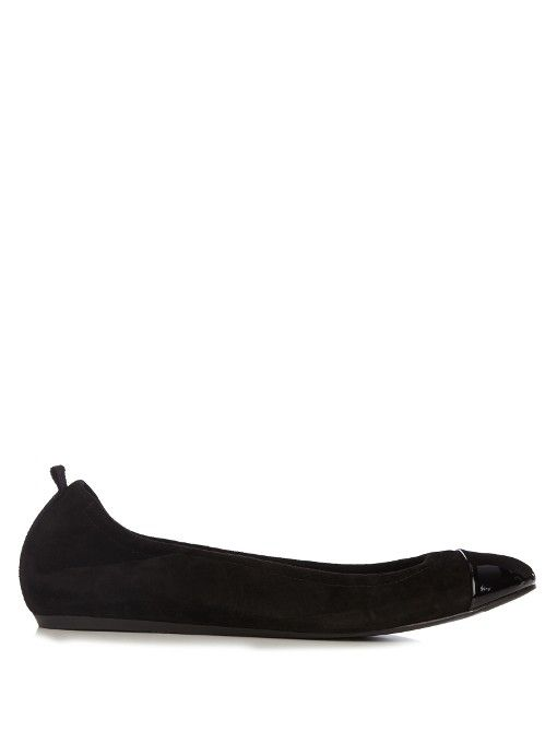 c611da6451c73 Lanvin Suede and patent-leather ballet flats   Ma Mode   Fashion ...