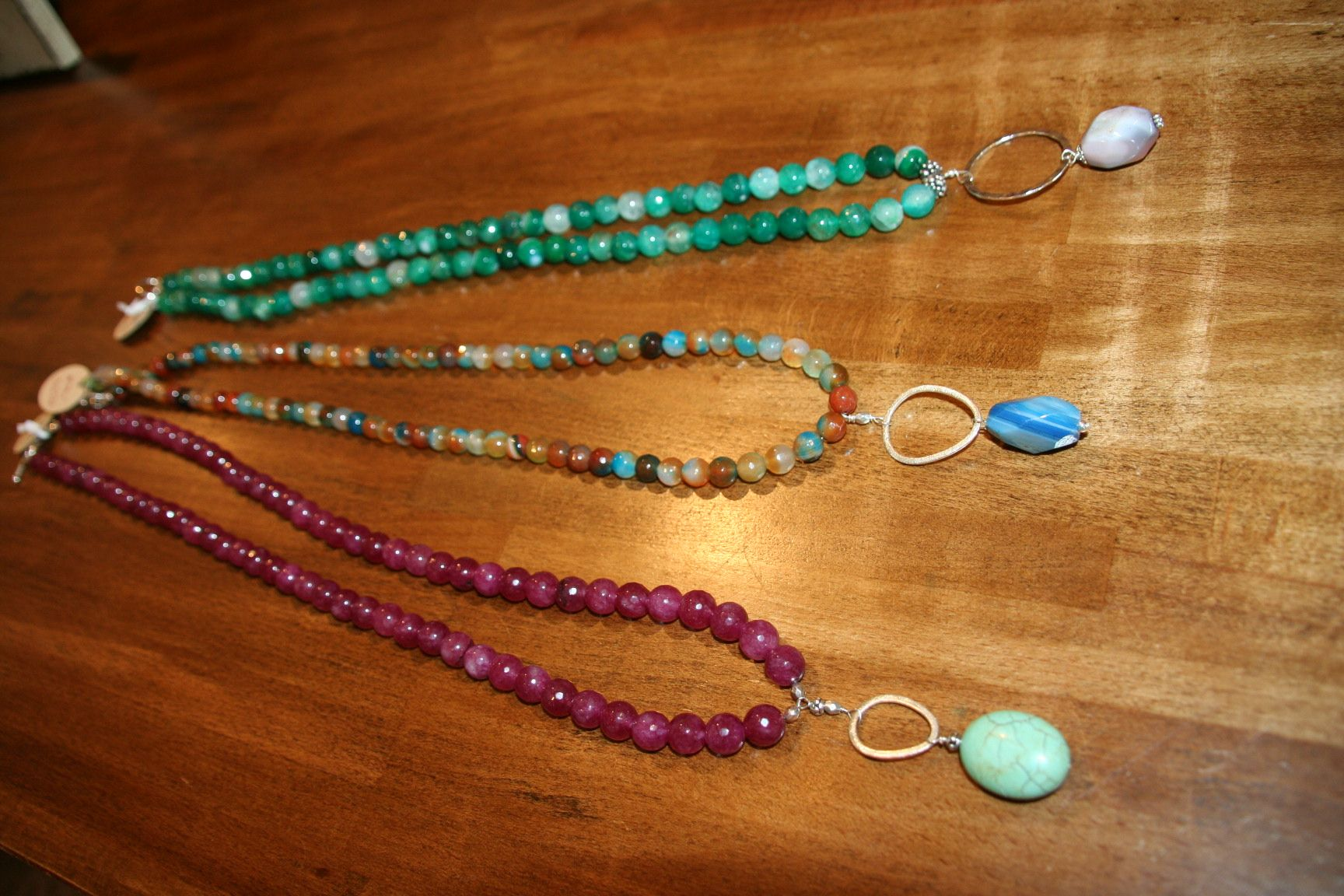 Long Stone Necklaces by Olivia Rae, Our Local Jewelry Designer