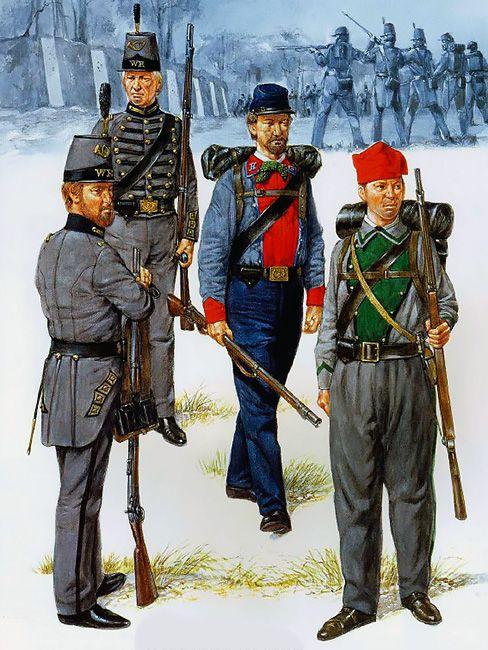 Virginia Volunteer Infantry, 1861-62: • Warrenton Rifles - Co K, 17th VA Inf  • Warrenton Rifles - Co K, 17th VA Inf  • Lynchburg Home Guard - Co G, 11th VA Inf  • Beauregard Rifles - The Zouaves