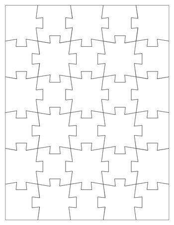 Jigsaw Puzzle Template 30 Pieces Design Puzzle Puzzle Piece