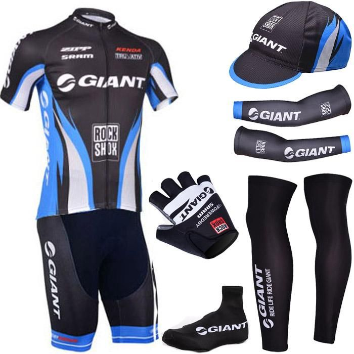 Pro Team 2015 Black Giant Cycling Jersey Bibs Shorts Gel Bikesuit Set With  Cycling Arm Warmers And Giant Bike Gloves From Cycling360 c3cb06f74