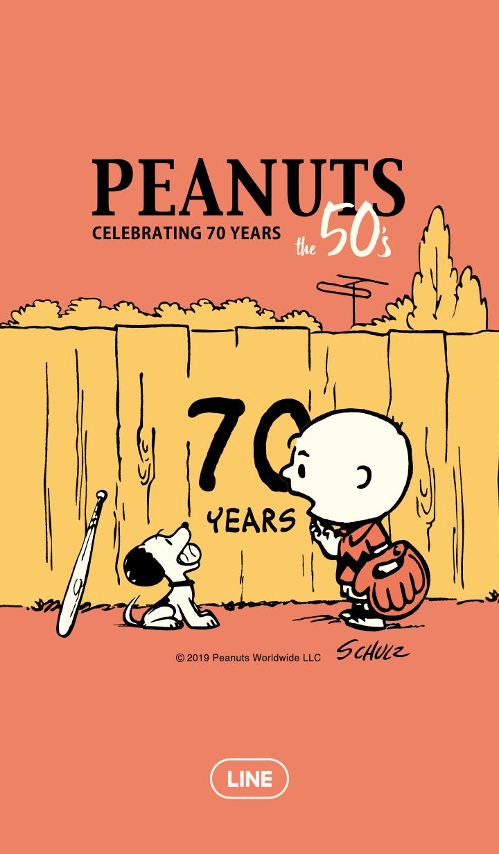 Snoopy Peanuts 50 S Line Wallpaper スヌーピーの壁紙 スヌーピー 愛 スヌーピー