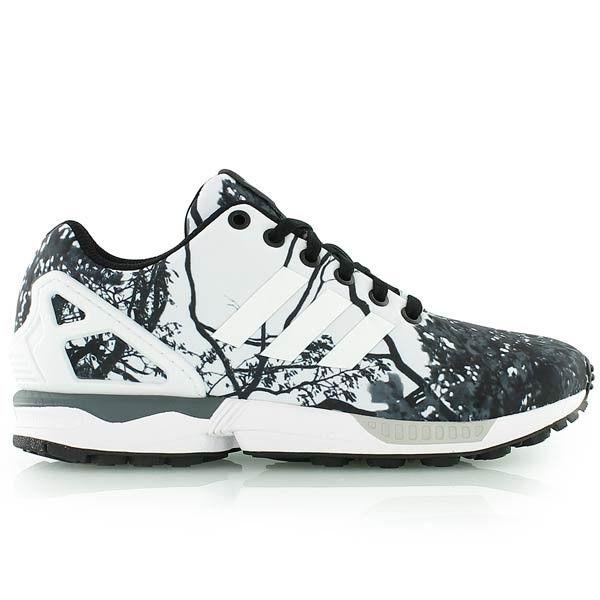 adidas zx flux w chaussures noir blanc