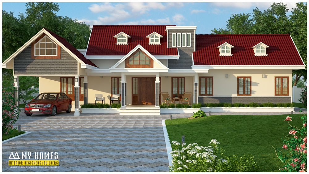 2520 sq ft traditional style kerala home designs car porch for Kerala traditional home plans with photos