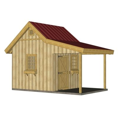 Storage Shed Plans With Porch Build A Garden Storage