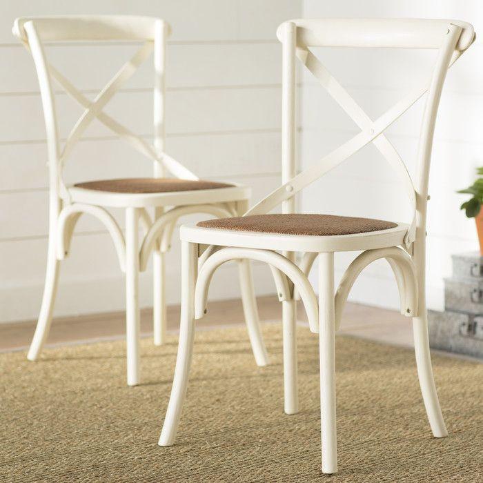 August Grove Essie Cross Back Side Chair Reviews Wayfair