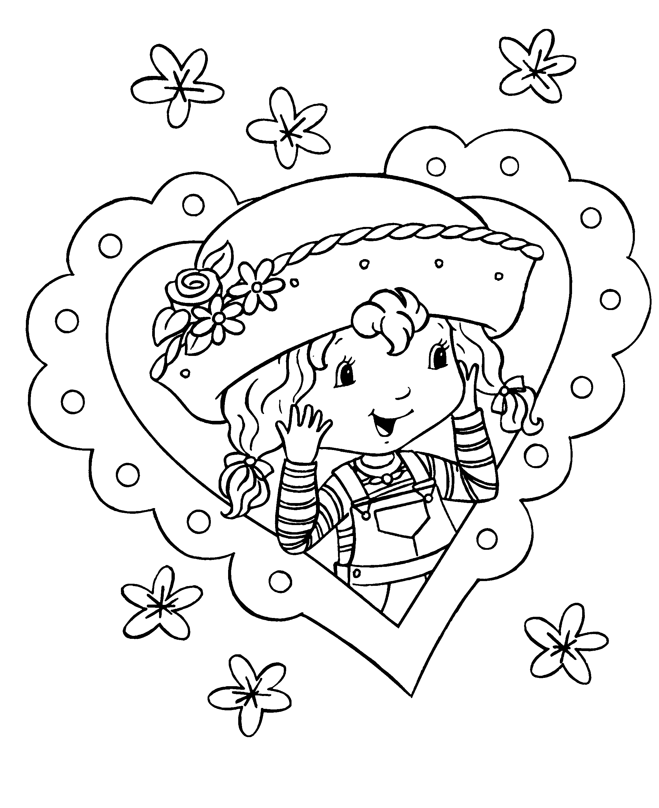 strawberry shortcake coloring pages free printable download