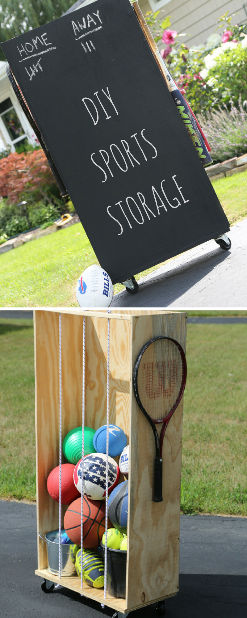Solving The Sports Equipment Storage Dilemma With One Simple Rack