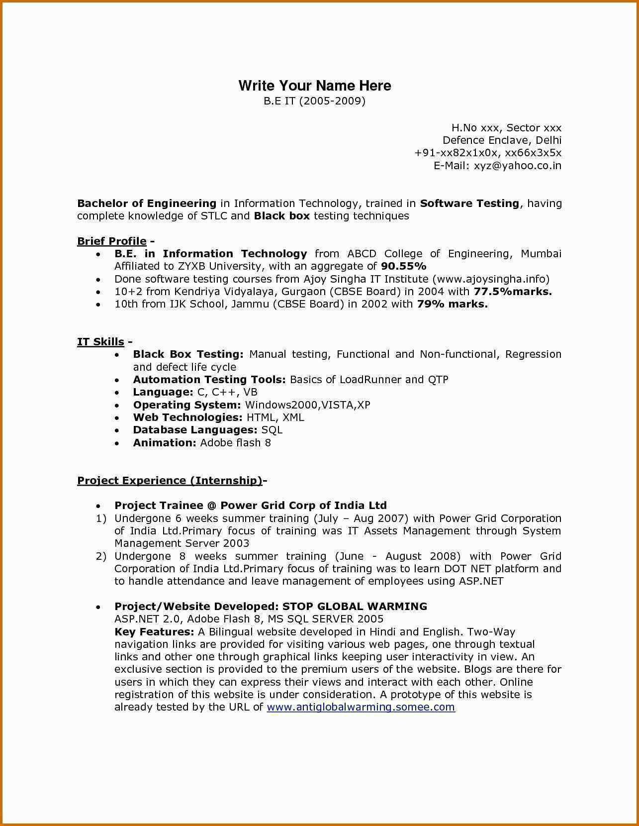 30 Sample Resume for Java Developer Fresher Job resume