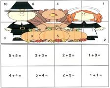 pilgrim activities, thanksgiving activities, pilgrim 10 frames, 10 frames templates, thanksgiving 10 frames, addition and subtraction centers, math centers for thanksgiving, math activities for thanksgiving, november math games, shape games, math games, shape activities, common core thanksgiving, common core pilgrims, greater and less than activities, free 10 frame templates, thanksgiving puzzles, pilgrim shape activities