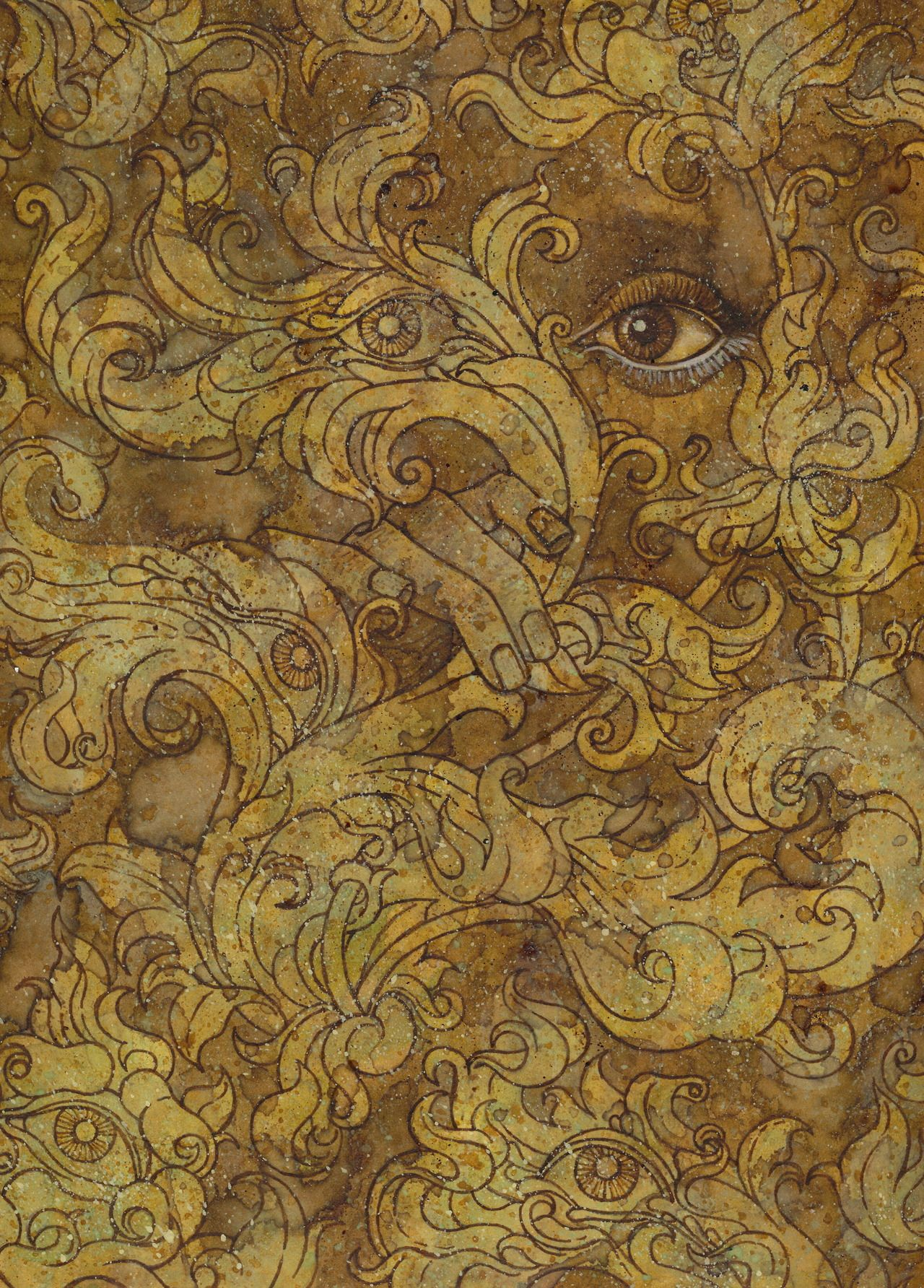 The Yellow Wallpaper Yellow Wallpaper Wallpaper Painting