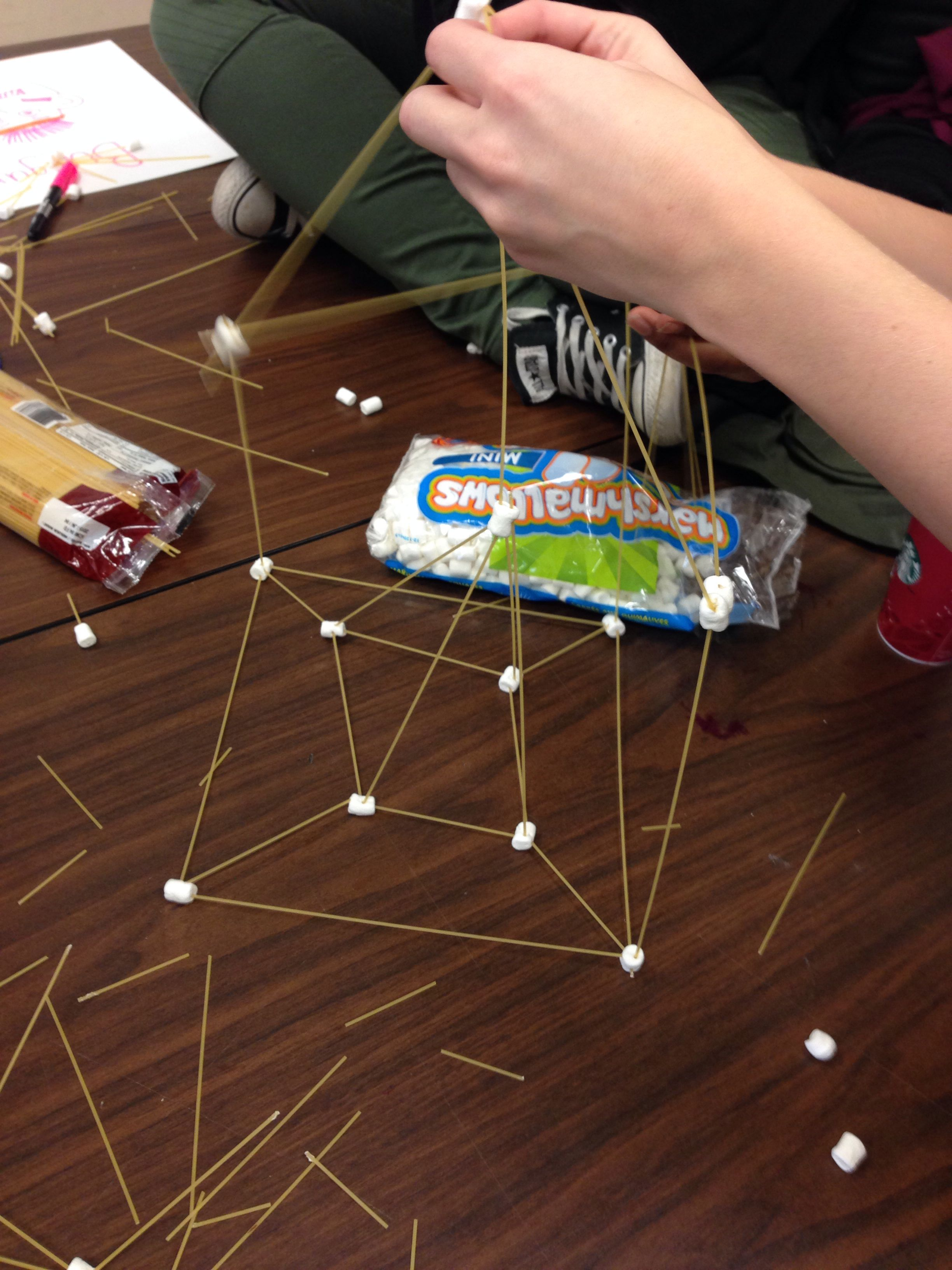 Our Teamwork Activity Of Who Can Build The Tallest Tower