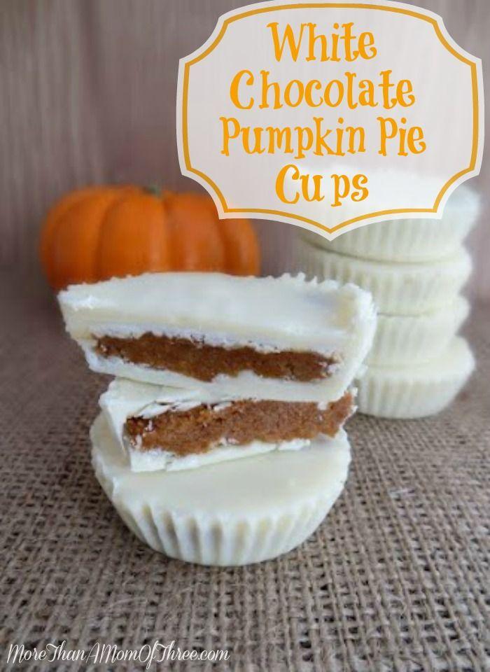 White Chocolate Pumpkin Pie Cups