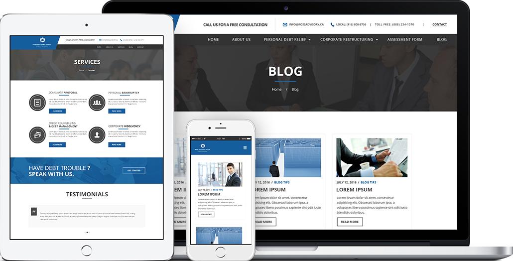 Website Design For Bankruptcy Lawyer With Images Web Design Agency Digital Marketing Solutions Graphic Design Website