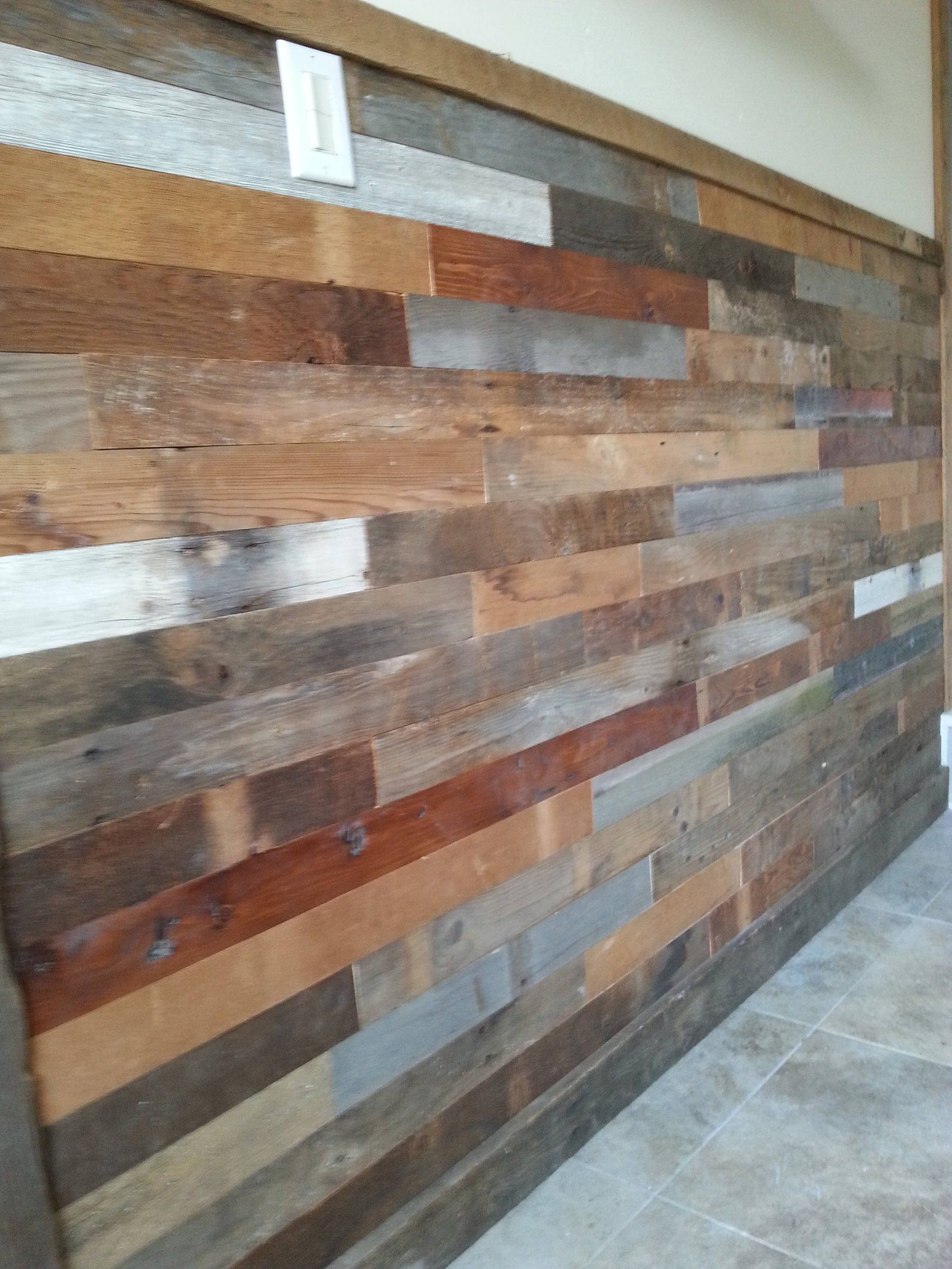 Barnwood Shiplap Easy Install Wainscoting Reclaimed Wood Etsy Rustic Wood Walls Barn Wood Old Barn Wood