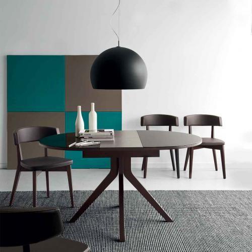 table ronde oregon o 110 145 cm wenge