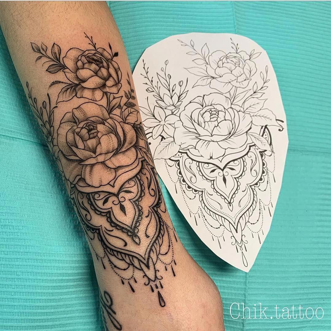 Mandala Style Tattoo Mandalatattoo Tattoos For Guys Arm Tattoos For Guys Diy Tattoo