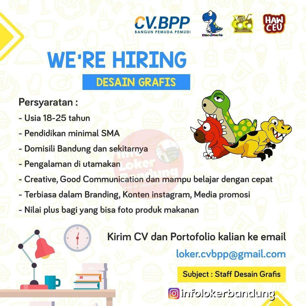 Lowongan Kerja Desain Grafis Cv Bpp Bandung Januari 2019 Grafis