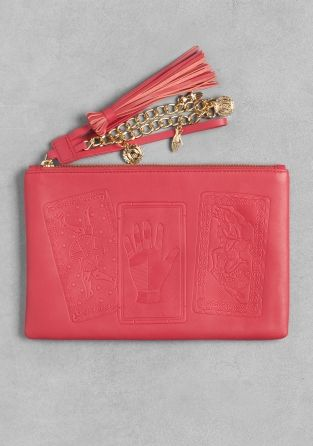 Leather pouch to store beauty essentials