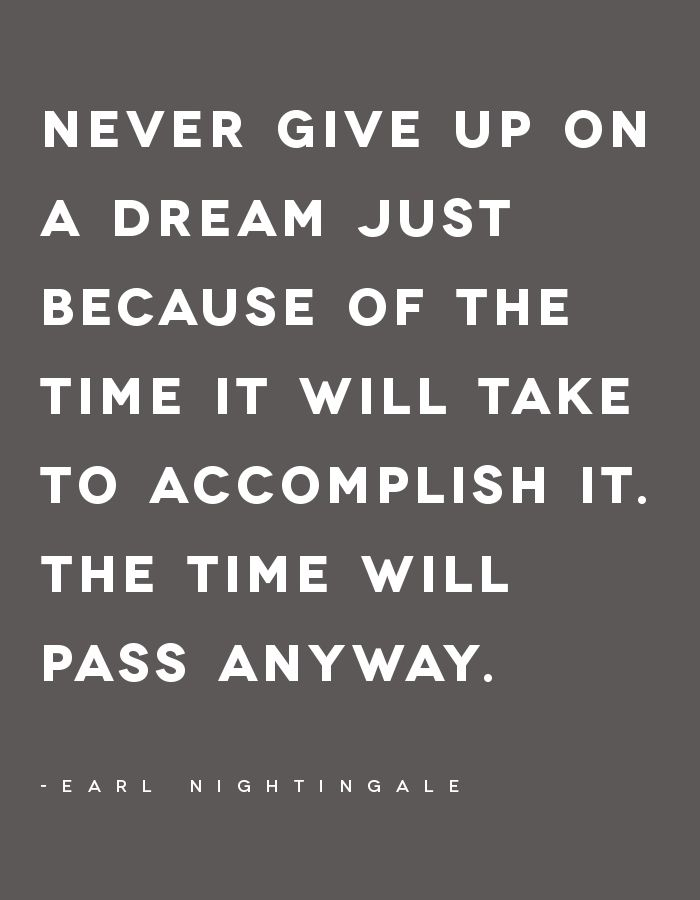 Never give up on a dream // Hola Design
