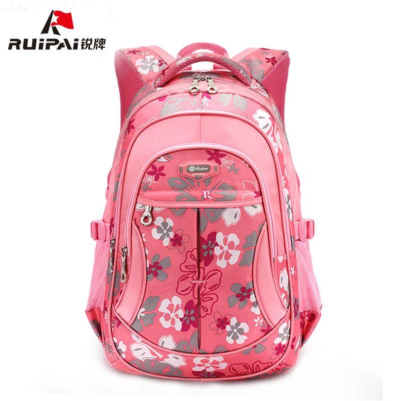 RUIPAI School Bags Polyester Kids Baby s Bags Backpack Comfortable  Schoolbags For Girls Boys Flower Shoulder Bags edbb888ead4a5