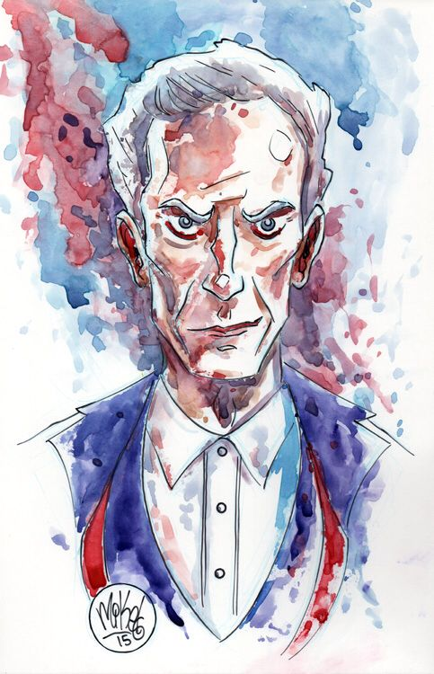 Watercolor: The 12th Doctor by mikemaihack on @DeviantArt
