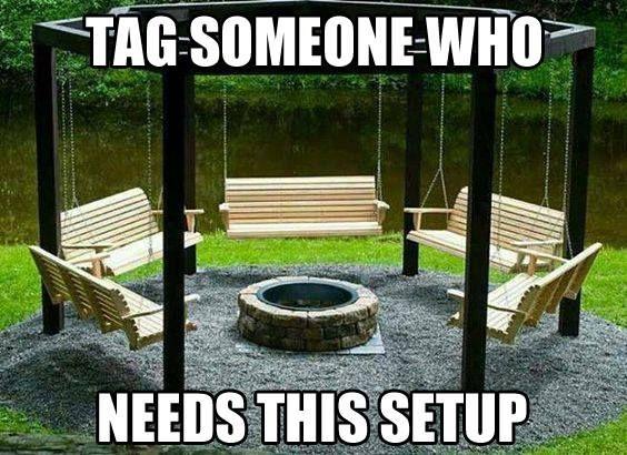Meme for Men pt.1 | Backyard, Fire pit swings, Fire pit ...