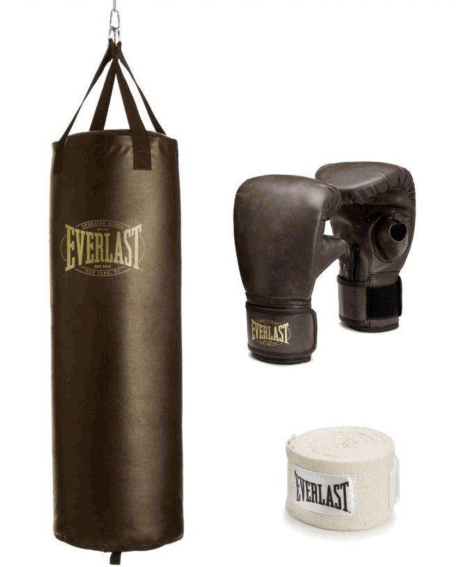 Vintage 1910 Heavy Bag Kit By Everlast Sports
