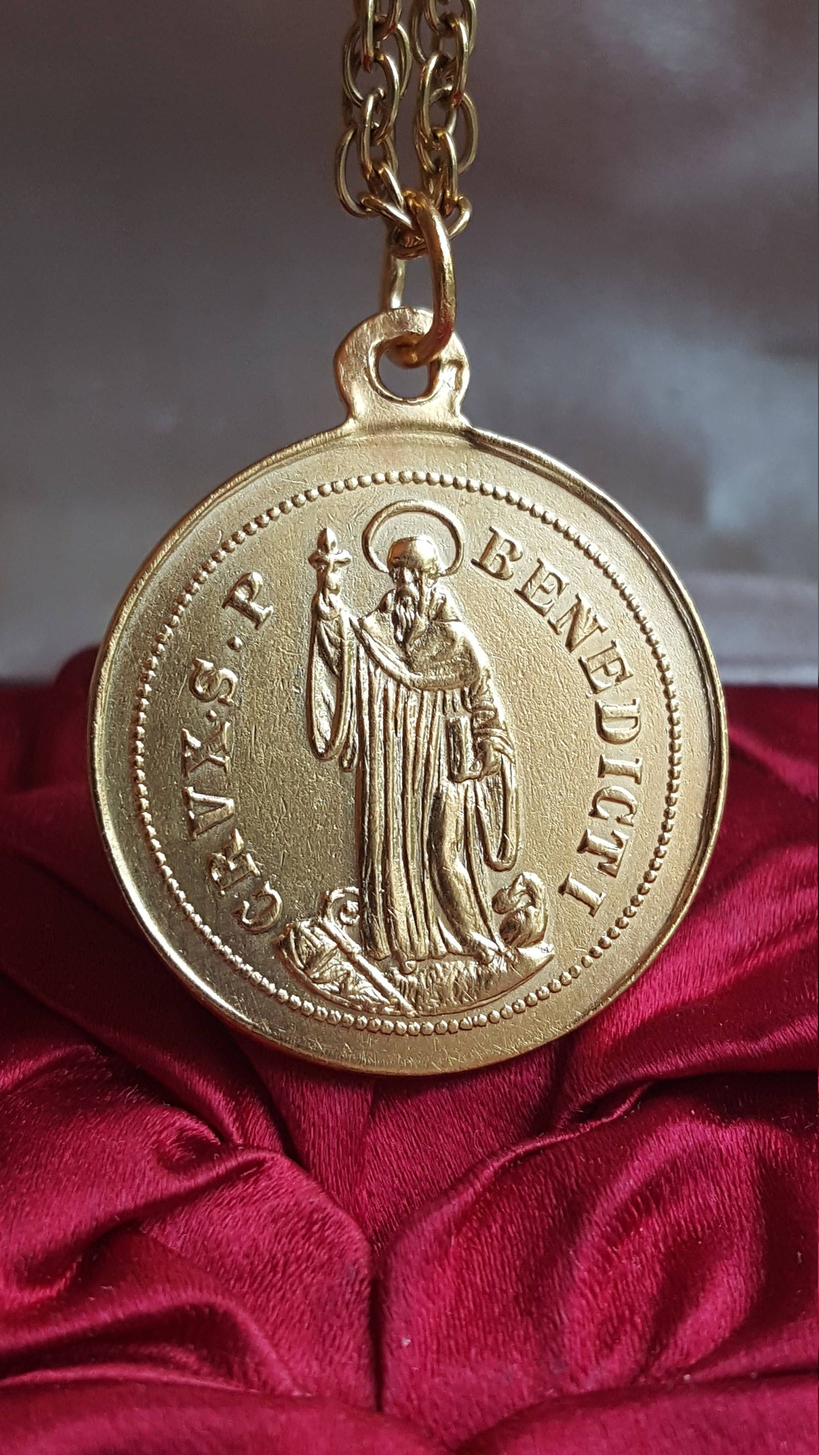 medal community catholic benedict st supply inc medallion img ny
