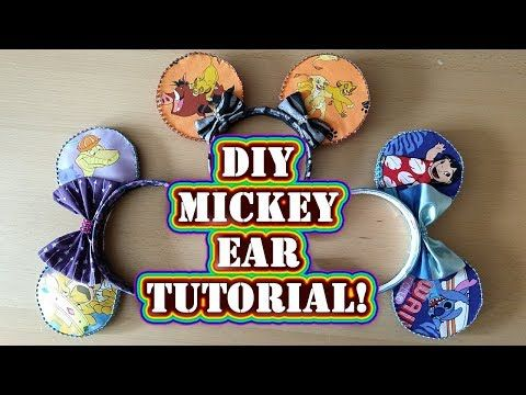 Disney Crafting How To Make Mickey Ears Diy Tutorial No Sew Step