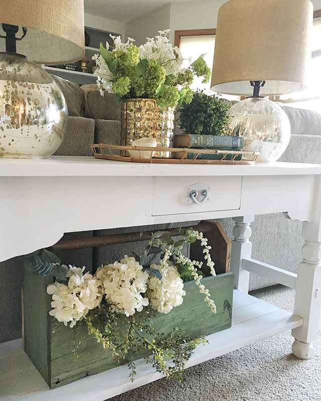 My @magdalenamarket. Love this table, old wooden tool box. | Dream ...