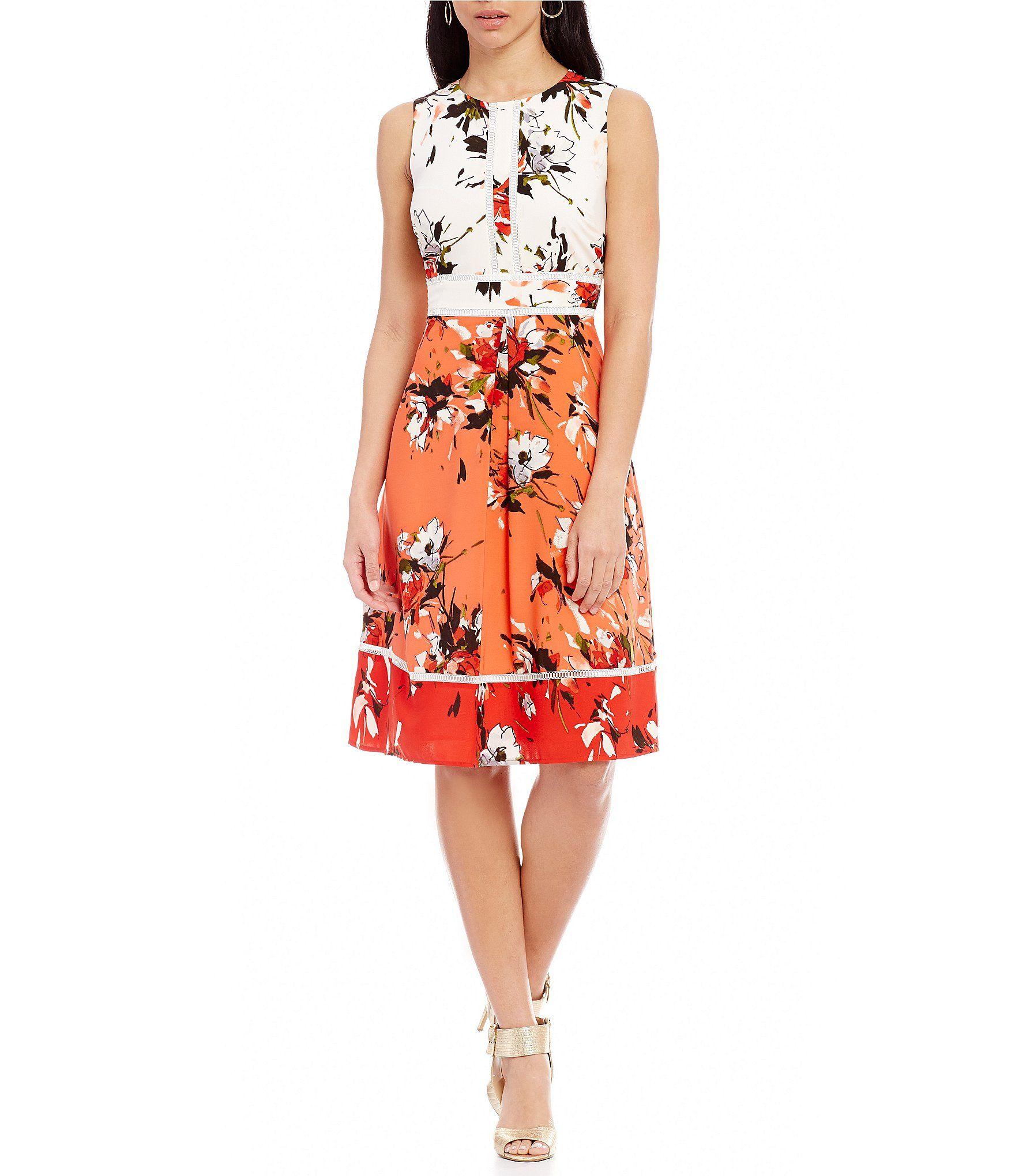 54fe985d10c Shop for KARL LAGERFELD PARIS Sleeveless Floral Dress at Dillards.com. Visit  Dillards.com to find clothing