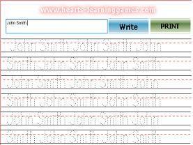 Preschool handwriting printable worksheet (Customizable PDF)