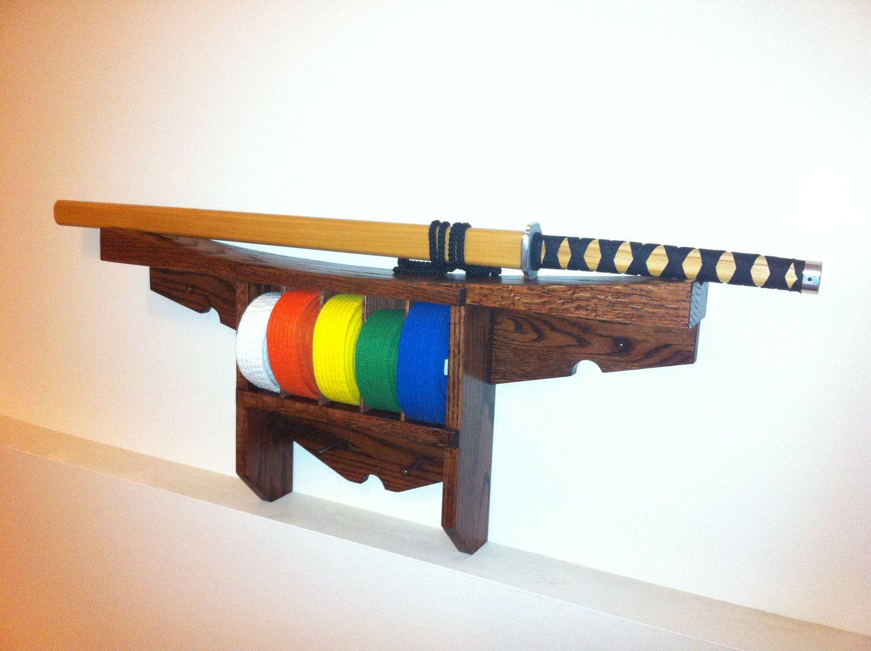Karate belt display ideas - Martial Arts Karate Belt Display Shelf