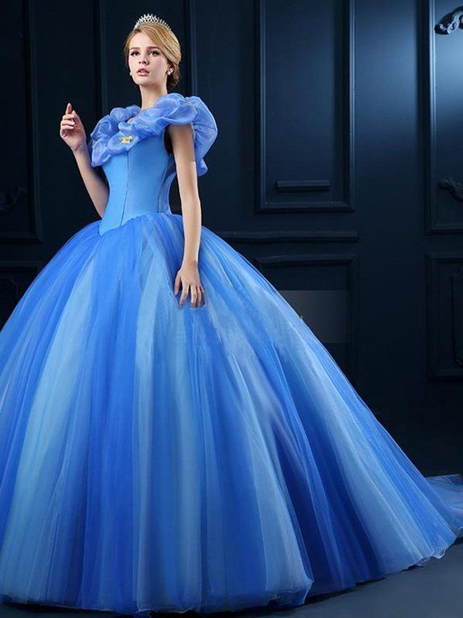 Lovelybride Cinderella Quinceanera Dress 2015 Tulle Prom Party Debutante Gowns