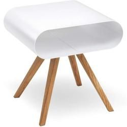Photo of müller möbelfabrikation Lo12 side table white aluminum (ral 9006) Müller MöbelfabrikationMüller Mö