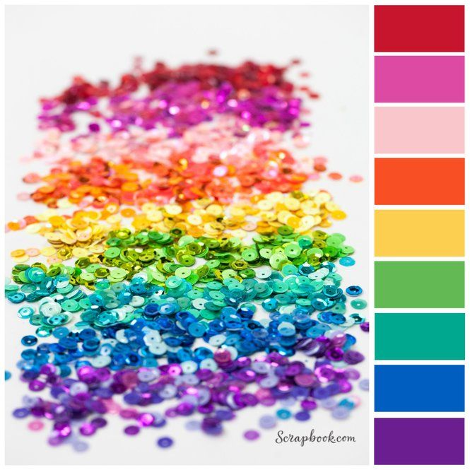 Add A Little Color Rainbow To Your Next Project With Sequins From