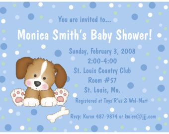 20 personalized baby shower invitations puppy dog baby shower 20 personalized baby shower invitations puppy dog filmwisefo Image collections