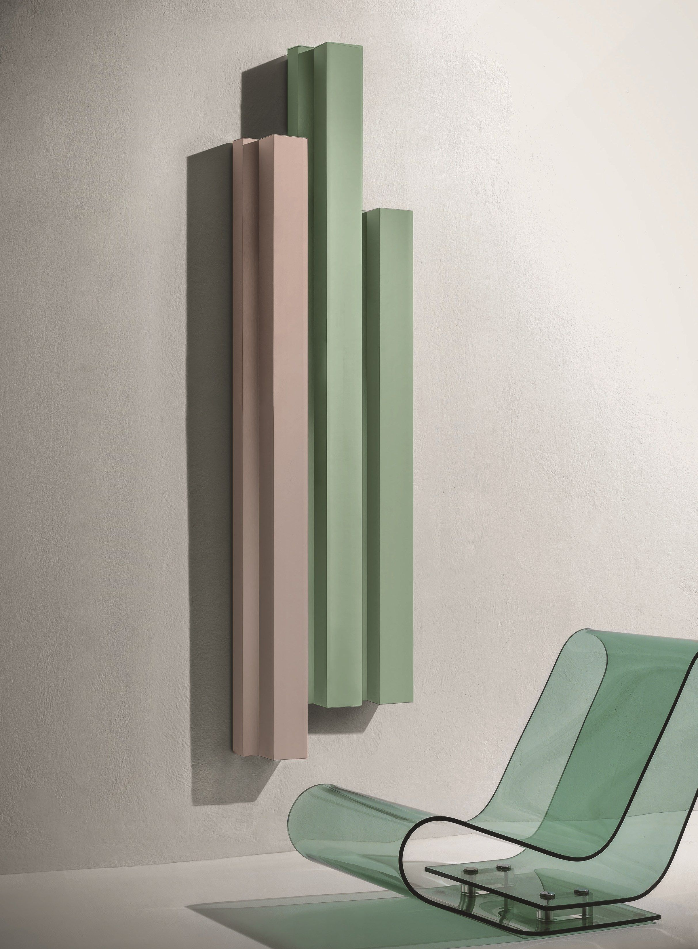 Hot Water Vertical Aluminium Decorative Radiator RIFT | Decorative Radiator  Elements Collection By Tubes Radiatori Design Ludovica+Roberto Palomba